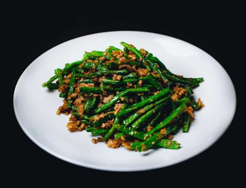Sautéed French Bean with Minced Pork/乾扁四季豆/豚挽肉といんげんの醬油味炒め