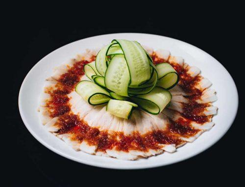 Sliced pork w garlic sauce/雲白肉/冷しゃぶ