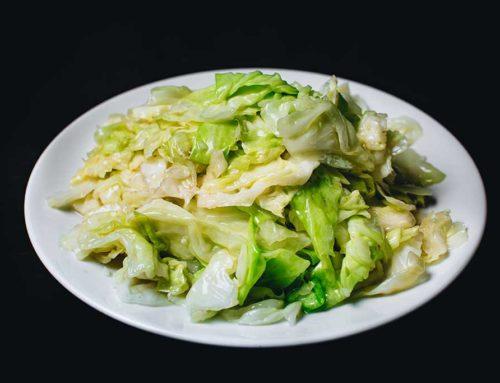 Stir-fried Cabbage/Lettece/鲜炒高丽菜/生菜/新鮮キャベツのニンニク炒め