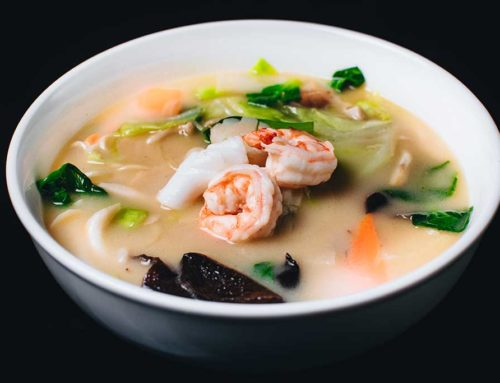 Sun King Seafood Vegetable Soup Noodle/三锦拉麵   /海鮮と野菜たっぷり入り白湯メン